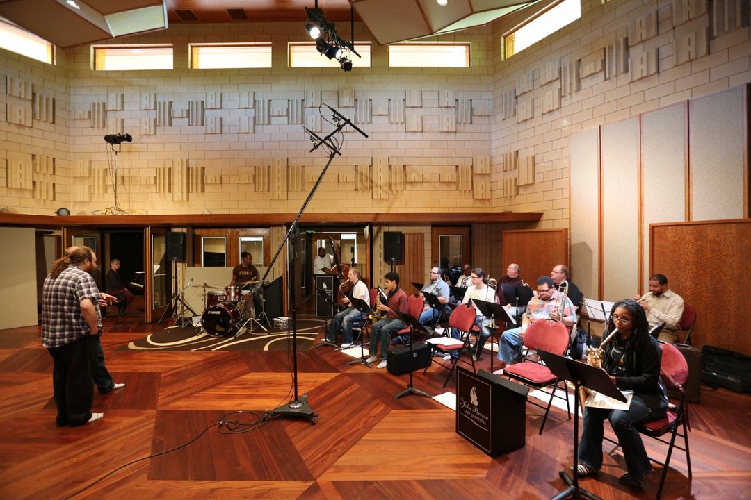 Big-band session in Music Room