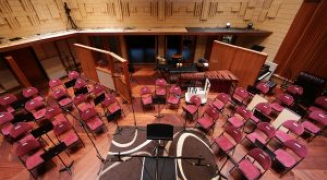 The Music Room can accommodate an entire chamber orchestra or jazz band